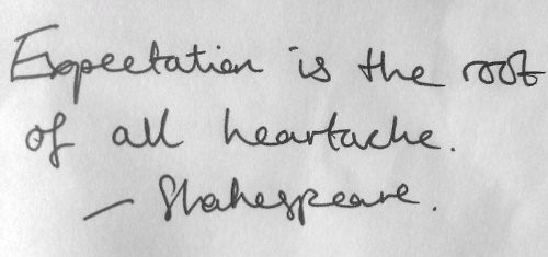 expectation quote